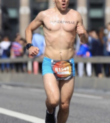 You have to be a bit cocky to run a marathon in your underwear! – He's the Superhero of Chafing.